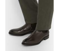 Belgravia Suede-panelled Leather Boots