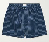 Striped Silk Boxer Shorts