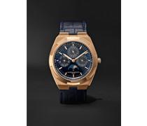 Overseas Perpetual Calendar Ultra-Thin Automatic 41.5mm 18-Karat Pink Gold and Alligator Watch, Ref. No. 4300V/000R-B509