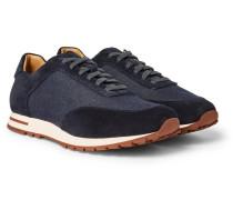 Weekend Walk Denim And Suede Sneakers