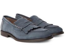 Full-grain Nubuck Kiltie Loafers
