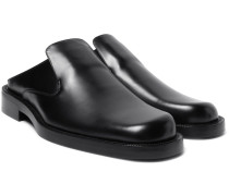 Leather Backless Loafers