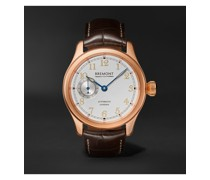 Wright Flyer Limited Edition Automatic 43mm 18-Karat Rose Gold and Alligator Watch, Ref. No. WF-RG