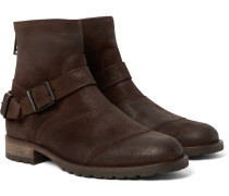 Trialmaster Burnished-suede Boots