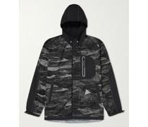 Printed Nylon Hooded Jacket