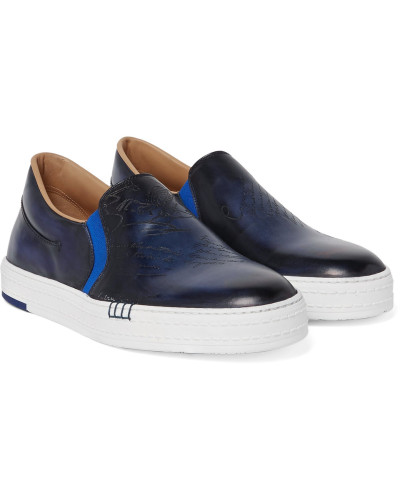 Playtime Polished-leather Slip-on Sneakers