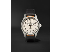 Pilot's Mark XVIII Automatic 40mm Stainless Steel and Leather Watch, Ref. No. IW327002