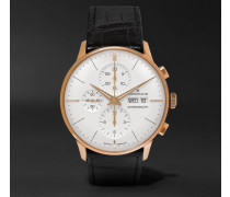 Meister Chronoscope Gold-tone And Alligator Watch