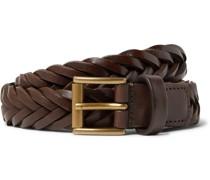 2.5cm Woven Leather Belt