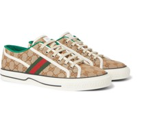 Tennis 1977 Webbing-Trimmed Logo-Jacquard Canvas Sneakers