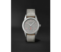 Club Campus Hand-Wound 36mm Stainless Steel and Leather Watch, Ref. No. 712