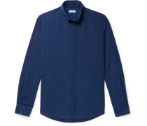 Button-Down Collar Cotton-Chambray Shirt