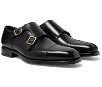 Wessex Cap-toe Leather Monk-strap Shoes