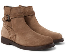 Shearling-lined Suede Jodhpur Boots