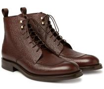 Algy Split-toe Weatherproof Pebble-grain Leather Boots