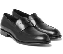 Stockholm Polished-leather Penny Loafers