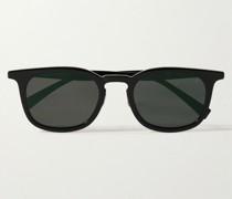Dual Lens Square-Frame Acetate and Silver-Tone Sunglasses