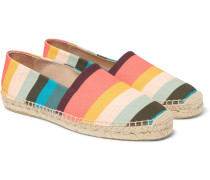 Sunny Striped Canvas Espadrilles