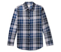 Checked Cotton-Twill Shirt