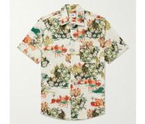 Errico Button-Down Collar Printed Cotton-Poplin Shirt