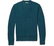 Fine-Knit Wool Cardigan