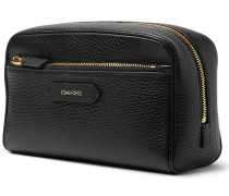 Grooming Kit And Leather Wash Bag