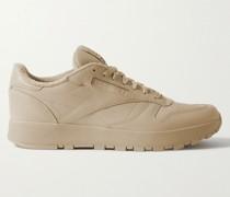 + Maison Margiela Project 0 Tabi Split-Toe Leather Sneakers