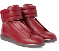 Future Leather High-top Sneakers