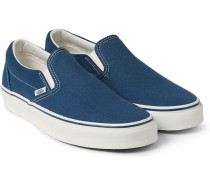 Classic Suede And Canvas Slip-on Sneakers