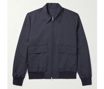 Pinstriped Wool and Silk-Blend Blouson Jacket