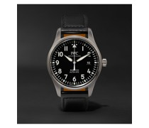 Pilot's Mark XVIII Automatic 40mm Stainless Steel and Leather Watch, Ref. No. IW327009