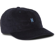 Logo-Embroidered Cotton-Corduroy Baseball Cap