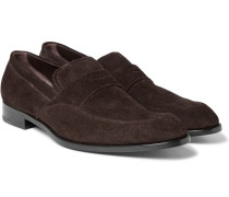 Flex Suede Penny Loafers