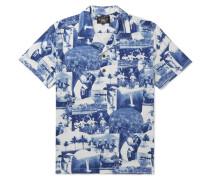 Camp-Collar Printed Cotton-Jersey Shirt