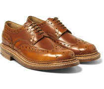 Archie Triple-welted Polished-leather Wingtip Brogues