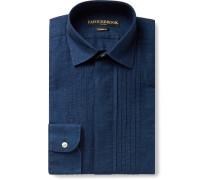 Bib-Front Cotton and Linen-Blend Shirt