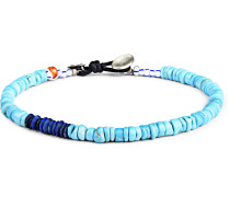 Pacifico Multi-Stone, Sterling Silver and Leather Bracelet