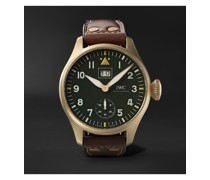 Big Pilot's Big Date Spitfire Limited Edition Hand-Wound 46.2mm Bronze and Leather Watch, Ref. No. IW510506
