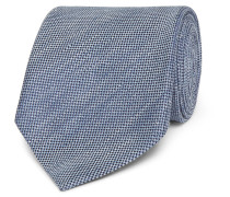 8cm Slub Linen And Silk-blend Tie