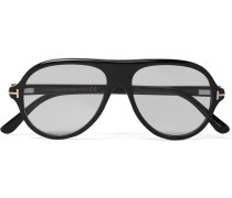 Private Collection Aviator-style Horn Optical Glasses