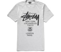 World Tour Printed Cotton-blend Jersey T-shirt