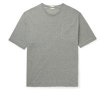 Striped Cotton and Linen-Blend T-Shirt
