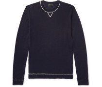 Contrast-tipped Wool And Mulberry Silk-blend Sweater