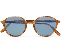 Combo Evolution Round-frame Acetate And Gold-tone Sunglasses