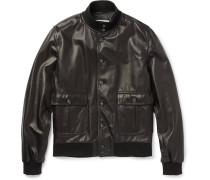 Valstarino Leather Bomber Jacket