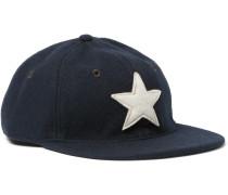 Appliquéd Wool-blend Felt Baseball Cap