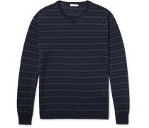 Striped Virgin Wool And Silk-blend Sweater