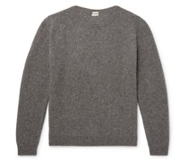 Mélange Wool, Yak and Cashmere-Blend Sweater