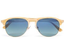 Aviator-style Acetate And Gold-tone Polarised Sunglasses