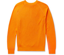 Garment-Dyed Ribbed Cotton Sweater